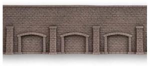 Noch 58276 Стена подпорная с колонами и арками обработанный камень 33.5Х12.5см 1/87    Noch_58276.jpg