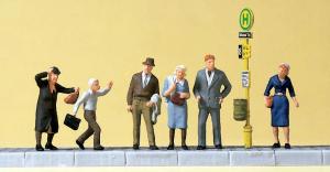 Preiser 10414 Набор фигур ожидание на трамвайной остановке. 1/87  Preiser_10414.jpg