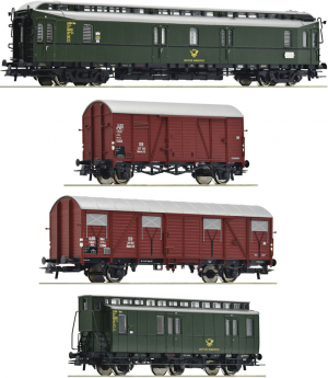 Roco 76036 Набор вагонов Postzug DB Epoche 1/87 Roco_76036.jpg