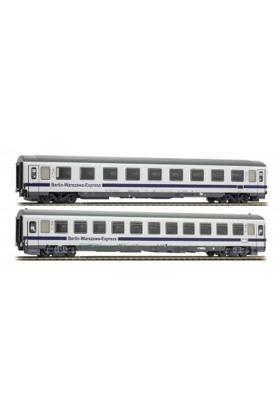 ACME 55095 Набор пассажирских вагонов 2шт.Avmz 108.7 Bmnouz Berlin Warsawa Express DB PKP Epoche VI