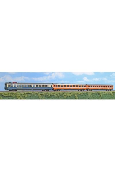 ACME 55125 Набор пассажирских вагонов 3шт Donau Kurier A OBB/DB Epoche IV 1/87
