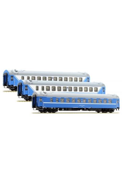 ACME 55150 Набор пассажирских вагонов D 1248/1249 Saratov-Express РЖД+БЧ Epoche V 1/87