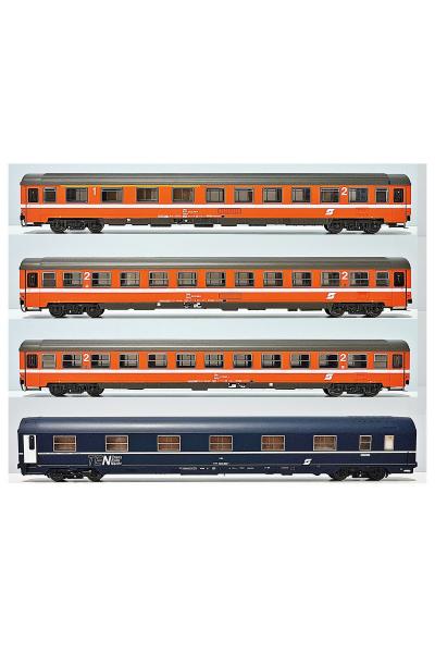 ACME 55164 Набор вагонов Abmoz+2 Bmz+1 WLABm Adria Express OBB Epoche IV-V 1/87