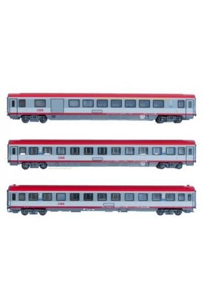 ACME 90066 Набор пассажирских вагонов 3шт IC ADmpsz+Bpmz OBB Epoche VI 1/87