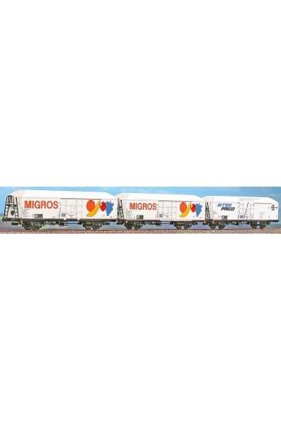 ACME 90100 Набор вагонов холодильников 3шт MIGROS FS 1/87