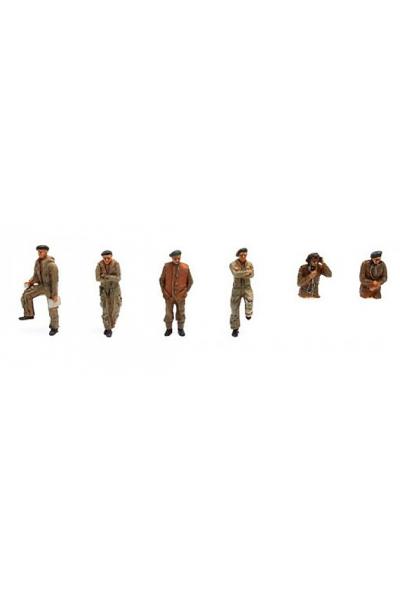 Artitec 387.132 Набор фигур UK танкисты 6шт Epoche II 1/87
