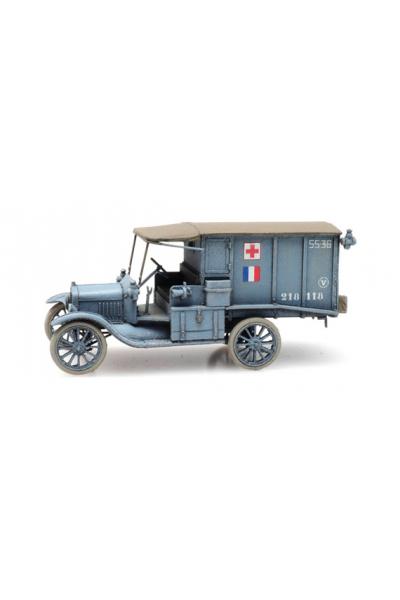Artitec 6870309 Автомобиль FR T-Ford красный крест Epoche I 1/87