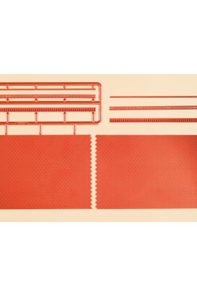 Auhagen 41205 Кирпичные стены с кантами 2шт (красный) Н0