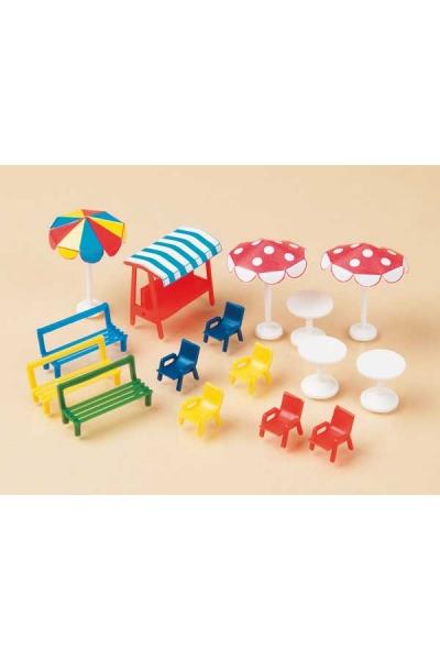 Auhagen 42569 Шезлонги стулья скамейки зонты Н0/ТТ
