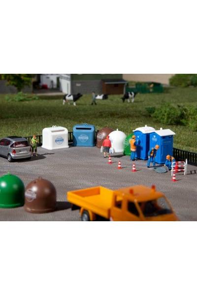 Auhagen 42593 Биотуалеты и мусорные баки  1/87