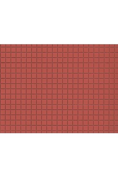 Auhagen 52422 Пластина плитка тротуарная квадратная (коричневая) 200 x 100мм Н0/ТТ