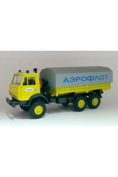 Auto 123005 Автомобиль бортовой тент АЭРОФЛОТ 1/87