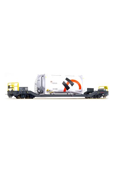 Bemo 2289137 Вагон RhB Sb-v 7717 Containerwagen Holcim H0m Epoche V