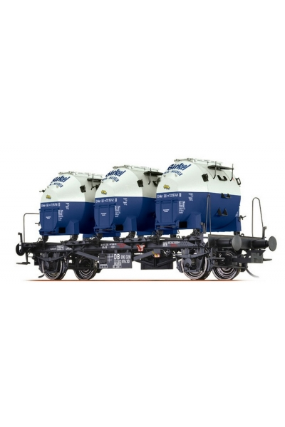 Brawa 37151 Вагон с контейнерами BTs30 Birkel DB III 1/45