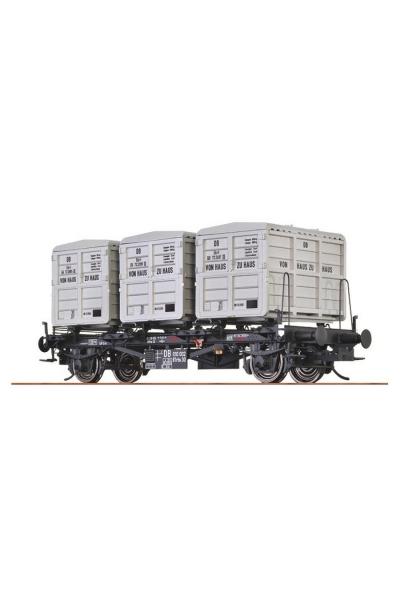 Brawa 37153 Вагон с контейнерами BTrhs 30 DB III 1/45