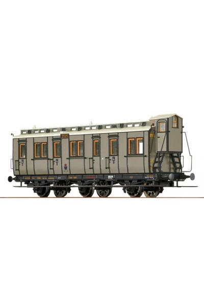 Brawa 45458 Вагон пассажирский D3 Essen 2525 K.P.E.V. Epoche I 1/87