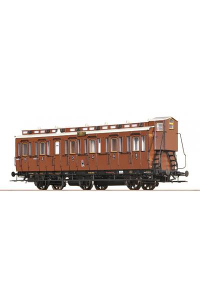 Brawa 45462 Вагон пассажирский C3 2666 K.P.E.V. Epoche I 1/87