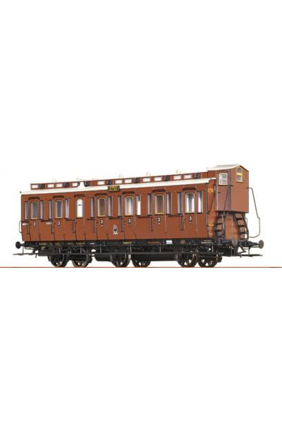 Brawa 45463 Вагон пассажирский C3 2750 K.P.E.V. Epoche I 1/87