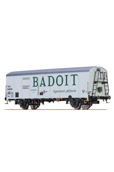 Brawa 48339 Вагон холодильник Hlv Badoit SNCF Epoche III 1/87