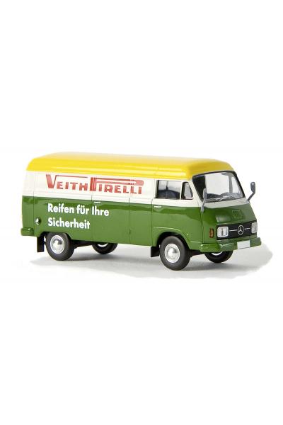 Brekina 13304 Автомобиль MB L 206 D Veith Pirelli 1/87