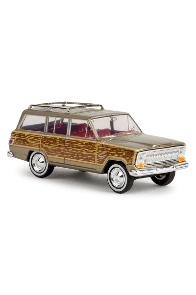 Brekina 19856 Автомобиль Jeep Wagoneer золотой 1/87