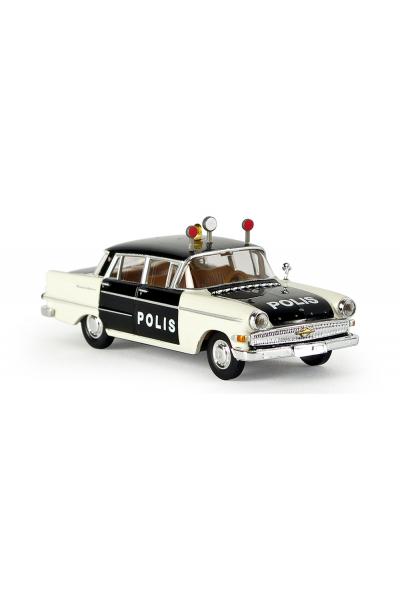 Brekina 20807 Автомобиль Opel Kapitan P 2.6 Polis 1/87