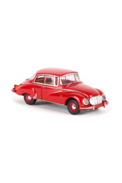 Brekina 28018 Автомобиль Auto Union 1000 S Limousine красный 1/87