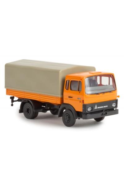 Brekina 34704 Автомобиль Magirus MK 130M8 оранжевый 1/87