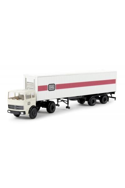 Brekina 81042 Автомобиль MB LPS1620 40ft Container-SZ DB 1/87