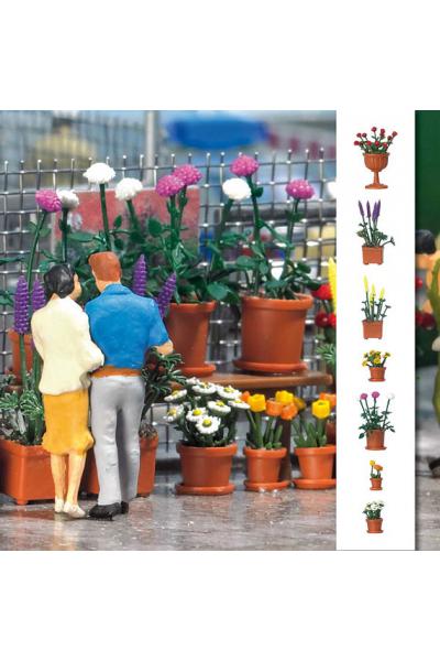 Busch 1209 Цветы в горшках 1/87
