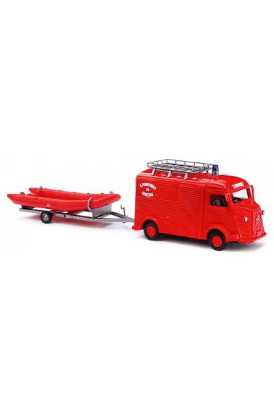Busch 41961 Автомобиль Citroen H Pompiers de Crozon Epoche III-IV 1/87