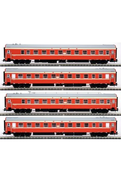 Eurotrain  0212  Набор пассажирских вагонов УРАЛ РЖД Эпоха V 1/87