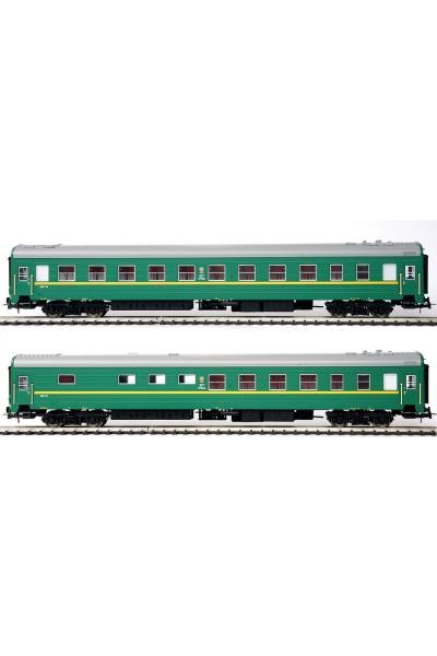 Eurotrain 0220 Набор пассажирских вагонов БУФЕТ СЖД эпоха IV 1/87