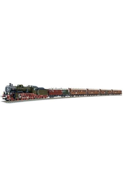 Fleischmann 481501 Набор паровоз P8+5 вагонов K.P.E.V. Epoche I 1/87