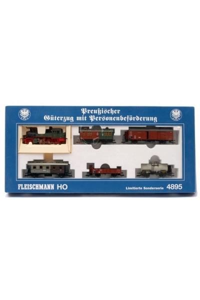 Fleischmann 4895 Набор паровоз T9.3+5 вагонов K.P.E.V. Epoche I 1/87