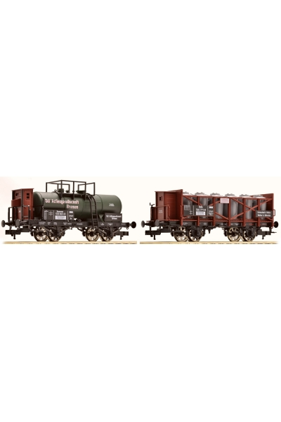 Fleischmann 544202 Набор вагонов K.P.E.V. Epoche I 1/87