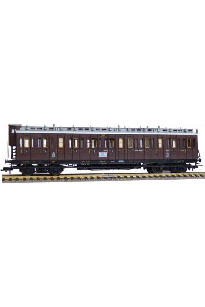 Fleischmann 568604 Вагон пассажирский CC 3кл K.P.E.V. Epoche I 1/87 VN