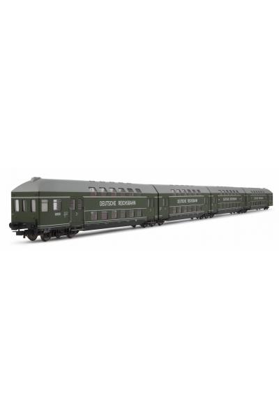 Rivarossi 4126 Набор 4 вагона DB 13umpe DR Epoche III 1/87