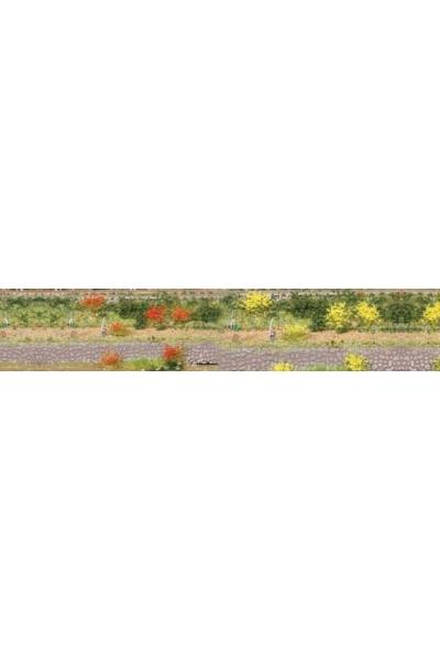 Heki 1804 Набор трава кочки 100шт 5-6мм жёлтый красный