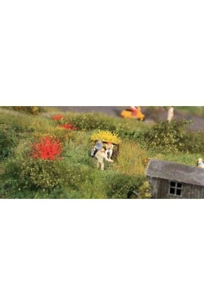 Heki 1809 Набор трава кочки 50шт 10мм жёлтый красный