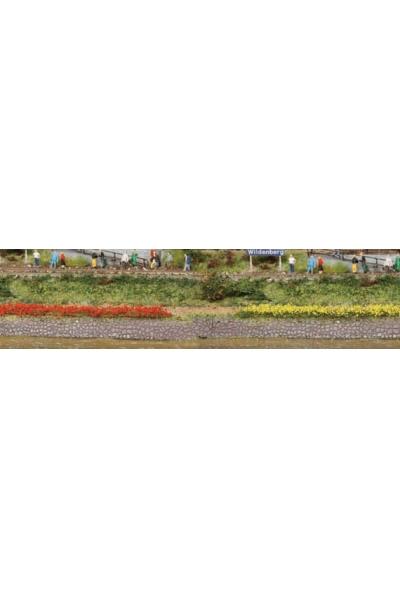Heki 1814 Набор полоски травы 10шт 100мм 6мм жёлтый красный
