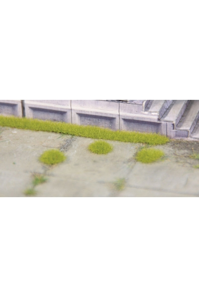 Heki 1820 Набор полоски травы 6шт+кочки 100шт В2,5мм светло зелёный