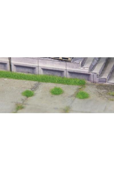 Heki 1821 Набор полоски травы 6шт+кочки 100шт В2,5мм зелёный