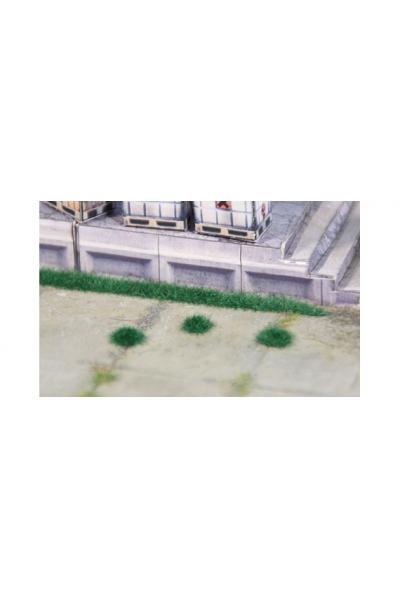 Heki 1822 Набор полоски травы 6шт+кочки 100шт В2,5мм тёмно зелёный