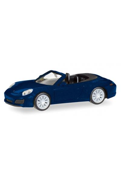 Herpa 038898 Автомобиль Porsche 911 Carrera 4S Cabrio 1/87
