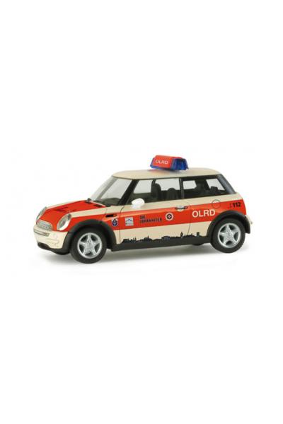 Herpa 048101 Автомобиль Mini Cooper Johanniter Giessen Epoche VI 1/87
