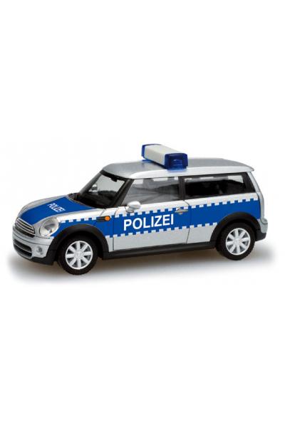 Herpa 049429 Автомобиль Mini Cooper Clubman Polizei Epoche VI 1/87