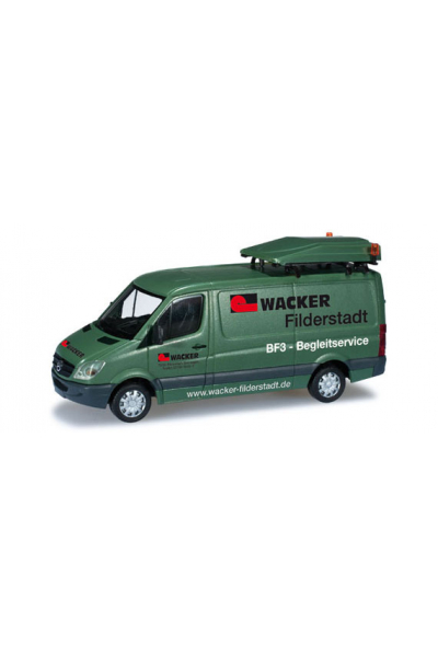 Herpa 049849 Автомобиль Mercedes-Benz Sprinter 06 BF3 Wacker Epoche VI 1/87