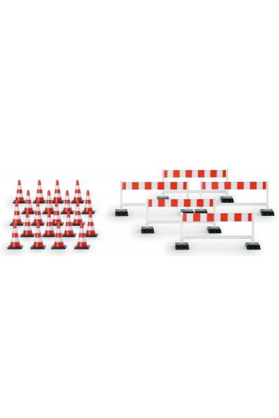 Herpa 052566  20 конусов 5 барьеров 1/87