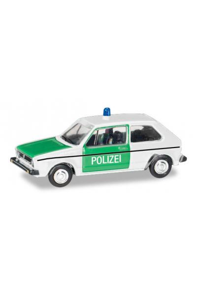 Herpa 066655 Автомобиль Volkswagen Golf I Polizei 1/120